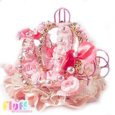 Cinderella's Carriage Hime Deco Lolita Head by FluffAccessories, $75.00        (OMG SOOO PRETTY!!!!)