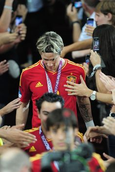 Fernando Torres Photos Photos - Fernando Torres of Spain celebrates their victory after the UEFA EURO 2012 final match between Spain and Italy at the Olympic Stadium on July 1, 2012 in Kiev, Ukraine. - Spain v Italy - UEFA EURO 2012 Final