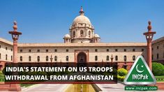 India's statement on US troops withdrawal from Afghanistan