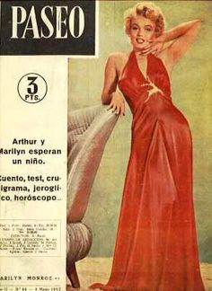 Paseo - May 4th 1957, magazine from Spain. Front cover photo of Marilyn Monroe by Bruno Bernard, 1952.
