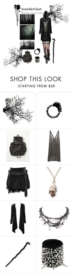 """..."" by a4n0ih3 ❤ liked on Polyvore featuring Alexander McQueen, Free People, Helmut Lang, Mantis 7, CO, Tom Binns, H&M, Cold Steel, Giuseppe Zanotti and Mason's"