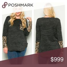 "3 LEFT! (Plus) Gray animal print top Animal print top. Semi lightweight, yet warm! Feels closer to a sweater. Poly/ rayon/ spandex mix. Runs TTS- go up one size if you'd like a more oversized look.  1x: L 31""  B 42""  2x: L 32"" B 44"" 3x: L 32"" B 46"" ⭐️This item is brand new from manufacturer without tags.  🚫NO TRADES 💲Price is firm unless bundled 💰Ask about bundle discounts Availability: 1x•2x•3x • 1•2•0 Tops Tees - Long Sleeve"