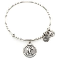 Initial II Expandable Wire Bangle L | Rafaelian Silver ($28) ❤ liked on Polyvore