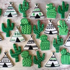 "233 Likes, 10 Comments - Sugared & Iced (@sugaredandiced) on Instagram: ""Southwest Sunday. Cactus and tepees for a sweet baby shower. #babyboy #babyshower #babyshowertheme…"""