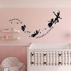 SHELLSTYLE Inspirational Wall Decals Quotes (Peter Pan- S...