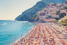 Positano Beach, Italy, La Dolce Vita Collection by Gray Malin Photography