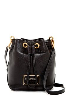 Leather Drawstring Crossbody