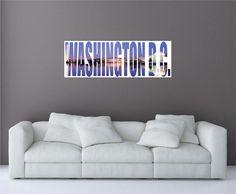 Washington D.C. City Skyline 2 Panoramic Wall by oOKimsKreationsOo Starting at $24.99! #cityname #skyline #washingtonDC #washington #decal #walldecals #travel