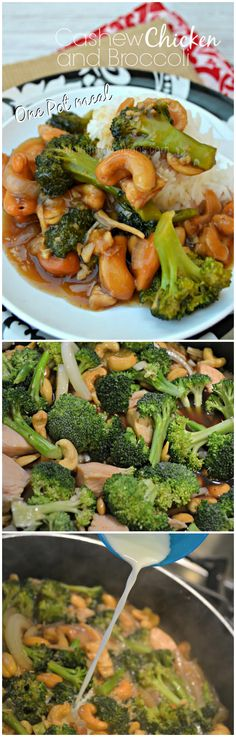 Cashew Chicken and Broccoli, One Pot Meal