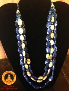 "Necklace from our ""Something Blue Collection""."