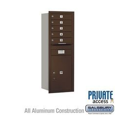 4C Horizontal Mailbox (Includes Master Commercial Lock) - 13 Door High Unit (48 Inches) - Single Column - 5 MB1 Doors / 1 PL6 - Bronze - Rear Loading - Private Access by Salsbury Industries. $472.50. 4C Horizontal Mailbox (Includes Master Commercial Lock) - 13 Door High Unit (48 Inches) - Single Column - 5 MB1 Doors / 1 PL6 - Bronze - Rear Loading - Private Access - Salsbury Industries - 820996412126