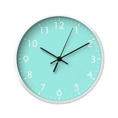 Mint Green Pastel Wall Clock by beautifulhomes Mint Green Rooms, Mint Rooms, Mint Green Decor, Color Menta, Mint Color, Mint Green Aesthetic, Green Wall Clocks, Azul Tiffany, Tiffany Blue
