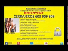 Cerrajeros #Ontinyent 603 909 909 económicos