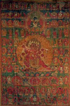 Denchog Heruka and Bardo deities   Tibet  17th-18th century  thangka (Nyingma-tradition)