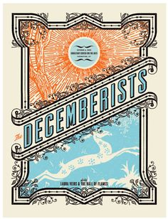 Band Poster design Inspiration, 80 Amazing Examples Of Gig Poster Designs Band Tour Posters, Band Posters, Festival Posters, Concert Posters, The Decemberists, Plakat Design, Kunst Poster, Silk Screen Printing, Graphic Design Typography