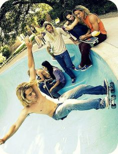 Pool skateboarding created in America which lead to bowl parks.