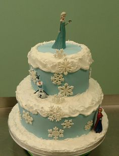 Disney Frozen Theme Birthday Cake The Characters Were Provided By My Friend  on Cake Central