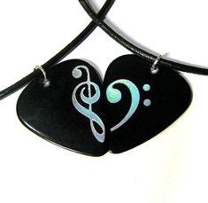 Music Is My Second Language Guitar Guitar Pick Necklace Unique Custom Fashion Pet Card Keychain