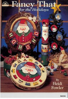 Fancy That for the Holidays - Nadieshda N - Picasa Albums Web Cute Christmas Ideas, Christmas Books, Christmas Crafts, Xmas, Tole Painting Patterns, Paint Patterns, Book Crafts, Craft Books, Magazine Crafts