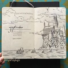 Harry Potter Bullet Journal Ideas - Head Back to Hogwarts - - Want to introduce a bit of nostalgia to your bullet journal? These Harry Potter bullet journal ideas are perfect for anyone who is a Potterhead like me! Bullet Journal September, Bullet Journal Inspo, Bullet Journal Notebook, Bullet Journal Junkies, Bullet Journal Aesthetic, Bullet Journal Spread, Bullet Journal Layout, Bullet Journals, Journal Covers