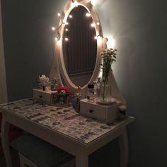 Hemnes Dressing Table With Mirror Grey Ikea в 2019 г туалетный