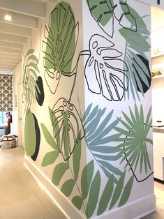 The mural was painted on Palm Acai coffe shop located in College Ave, Berkeley. This mural is composed by a combination of diffe… Creative Wall Painting, Wall Painting Decor, Mural Wall Art, Wall Paintings, Street Mural, Home Room Design, Cafe Interior, Paint Designs, Wall Design