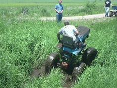 Monster mower muddin. This one was on Extreme Makeover Home Edition