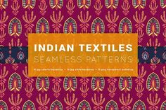India watercolor seamless patterns by likorbut on @creativemarket