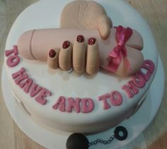Hen party cake ...a bit naughty !