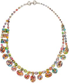 Tom Binns Multicolor A Riot Of Color GlowInTheDark Swarovski Crystal Necklace