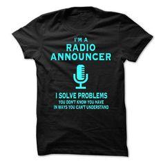 Radio Announcer - SP T Shirts, Hoodies Sweatshirts. Check price ==► http://store.customtshirts.xyz/go.php?u=https://www.sunfrog.com/Faith/Radio-Announcer--SP.html?41382