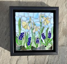 Spring Has Sprung: Stained Glass Mosaic Wall Art by MaitriMosaics on Etsy