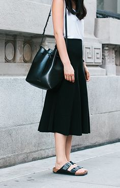 skirt and slides #minimal #style