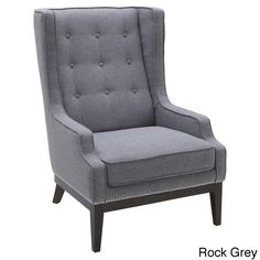 Elegantly designed with silver nailhead trim, the Sunpan Biblioteca armchair has a look that is sure to impress. Crafted with arm rests and gorgeous fabric upholstery, this comfortable seating option is as fashionable as it is practical.