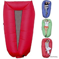 Best Selling WooHoo 20 Giant Outdoor Inflatable Lounger with Carry Bag Air Lounger Air Couch Patent Pending ** Continue with the details at the image link. Air Lounger, Inflatable Furniture, Amazon New, Camping Pillows, Outdoor Gifts, Giant Inflatable, Beach Accessories, Patent Pending, New Model