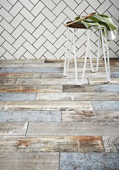 These realistic wood-effect tiles from Walls and Floors have an aged, reclaimed look but are actually made from a durable porcelain – perfect for a rustic, country-style-kitchen. Find more ideas at housebeautiful.co.uk
