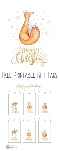 Free Printable Christmas Holiday Gift Tags | Homemade gifts deserve an original gift tag! Click the photo to download yours. TodaysCreativeLife.com
