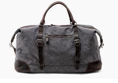 THUN NAGY KAPACÍTÁSÚ SZÜRKE VÁSZON-BŐR UTAZÓTÁSKA Travel Bags Carry On, Mens Travel Bag, Duffle Bag Travel, Carry On Luggage, Luggage Bags, Duffel Bags, Travel Backpack, Canvas Weekender Bag, Canvas Travel Bag