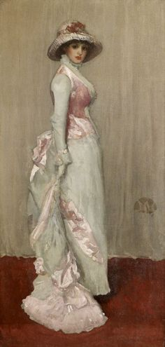 "treselegant: ""Porträt der Lady Meux by James Abbott McNeill Whistler. "" ""Portrait of Lady Meux is a name given to several full-length portraits by James Abbott McNeill Whistler."" ""Whistler painted a. James Abbott Mcneill Whistler, Manet, Art Nouveau Pintura, Gris Rose, Lady Grey, Art Abstrait, Art For Art Sake, Renoir, Nocturne"