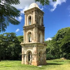 """The bell tower at the San Isidro de los Destiladeros sugar mill The bell tower never…"" Small Buildings, Garden Buildings, Garden Structures, Tower Building, Building Plans, Building Design, Gate House, D House, Historical Architecture"