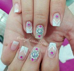 Acrylic Nail Art, Pedicures, Beauty, Work Nails, Fingernail Designs, Toe Polish, Cosmetology, Pedicure, Acrylic Nails
