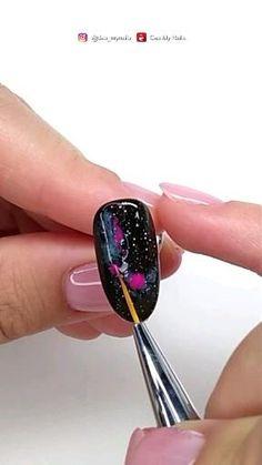 Diy Acrylic Nails, Gel Nail Art, Diy Nails, Nail Art Designs Videos, Cute Nail Art Designs, Gel Nail Tutorial, Galaxy Nails Tutorial, Simple Gel Nails, Camouflage Nails
