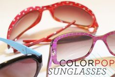 DIY Color pop sunglasses over @ Say Yes to Hoboken. Great idea for summer.