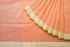 Madras George Handwoven Linen Cotton Sari 1017558 - Sari / Linen - Parisera
