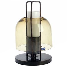 Arne Jacobsen; Bronze and Glass Table Lamp for the Royal Hotel SAS, 1958.