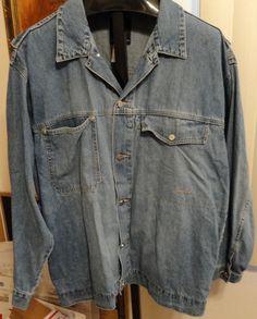 Jean Jacket XXL Sean John Men's Different Style Logo Buttons and Embroidery EUC #SeanJohn #JeanJacket