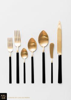 Axel Flatware | Gold + Black // Casa de Perrin