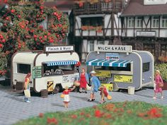 Black Forest® Hobby Supply Co - FOOD VENDOR STANDS 770-5144 - HO SCALE, $21.24 (http://www.blackforesthobby.com/food-vendor-stands-770-5144/)
