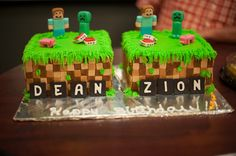 Minecraft Birthday Cake!