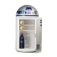 R2-D2 Fridge Keeps Contents Warm Or Cold. Not For Storing Empire Blueprints. -  #kitchen #r2d2 #starwars